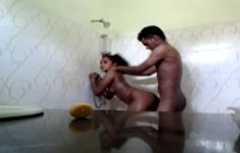 Desi amateur couple in the bathroom
